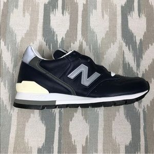 New Balance 996 M996NCB Mens Navy Leather Shoes
